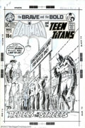 Original Comic Art:Covers, Nick Cardy - Original Cover Art for Brave and the Bold #94 (DC,1971). Batman teams up with the Teen Titans in this gut-wren...