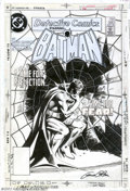 Original Comic Art:Covers, Gene Colan - Original Cover Art for Detective Comics #560 (DC,1986). Nobody broods better than the Batman, and nobody draws...