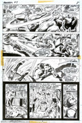Original Comic Art:Panel Pages, Gene Colan and Ernie Chan - Original Art for Daredevil #97, page 8 (Marvel, 1972). Daredevil takes one in the kisser from th...