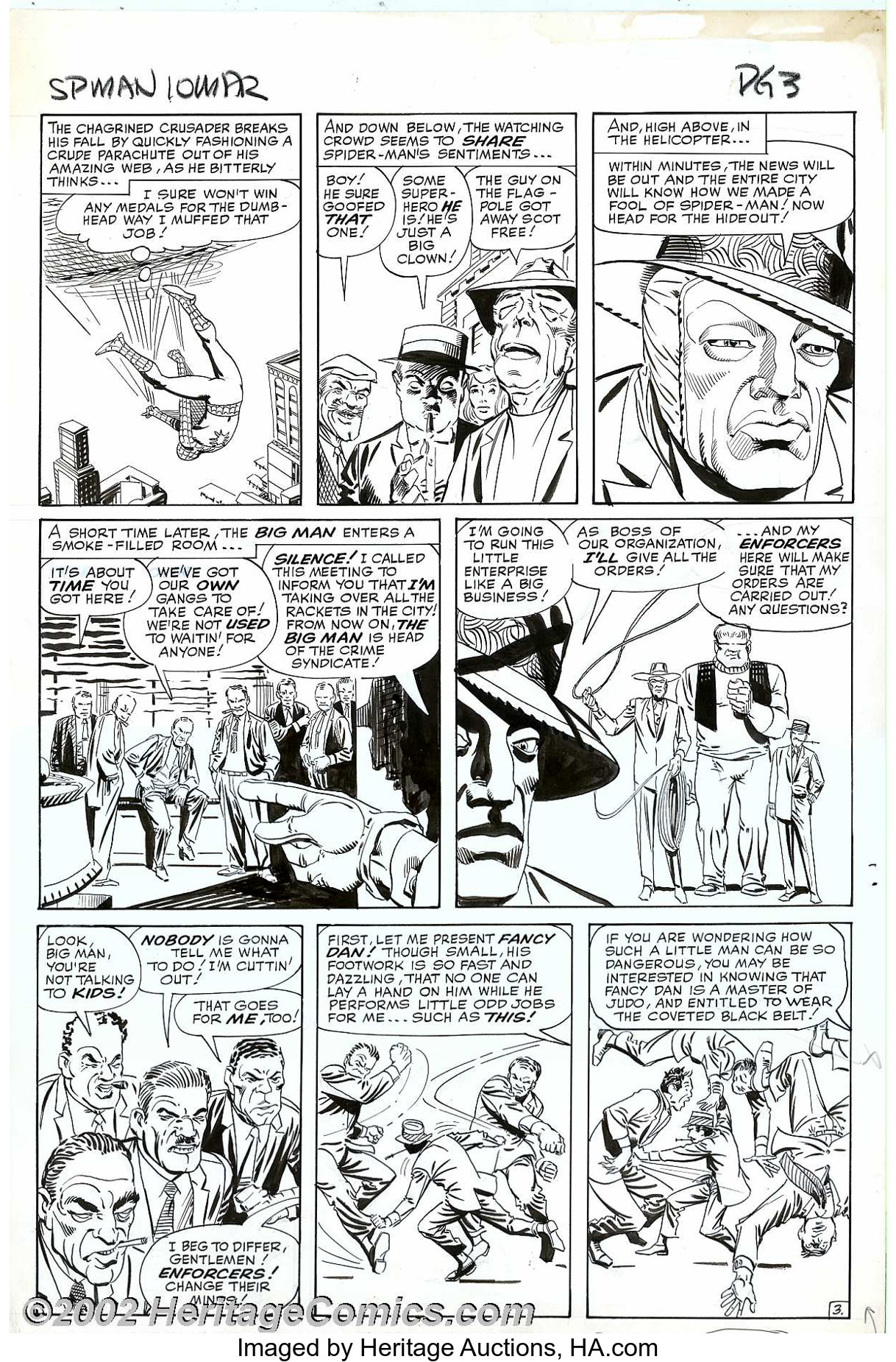 Steve Ditko - Original Art Panel Page for The Amazing Spider-Man