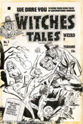 Original Comic Art:Covers, Lee Elias - Original Cover Art for Witches Tales #1 (Harvey, 1951).Harvey artwork shows up now and then but how often do yo...