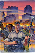 Original Comic Art:Covers, Gary Erskine and Joel F. Naprstek - Original Back Cover Art forTerminator 2: Judgement Day Cybernetic Dawn (Malibu, 1996). ...