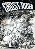 Original Comic Art:Covers, Frank Frazetta - Original Cover Art for Ghost Rider #3 (ME, 1950).Frank Frazetta is widely held to be the greatest artist t...