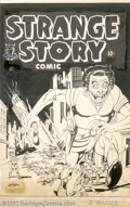 Original Comic Art:Covers, Bob Fujitani - Original Cover Art for Strange Story Comic #1(Harvey, 1946). This original cover by the great Fuje is the ul...