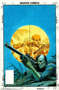 Original Comic Art:Covers, Russ Heath - Original Cover Art for The 'Nam #65 (Marvel, 1992).The rich, warm colors of this beautiful cover are in sharp ...