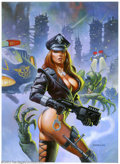 Original Comic Art:Paintings, Alex Horley - Original Cover Painting for Heavy Metal Magazine (Heavy Metal, 2003). One of the fastest rising stars of the f...