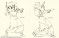 Original Comic Art:Sketches, Michael William Kaluta - Original Sketches of The Shadow, Lot of 3 (undated). Here are three pen and ink sketches of the Sha...