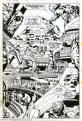 Original Comic Art:Splash Pages, Jack Kirby and Herb Trimpe - Original Splash Page Art for SilverSurfer #18 (Marvel, 1970). Sound the alarm! The Silver Surf...