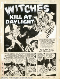 "Joe Kubert - Original Art for All New Comics #6, Complete 5-page Story, ""Witches Kill At Daylight"" (Harvey , 1..."