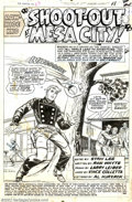 Original Comic Art:Splash Pages, Larry Lieber and Vince Colletta - Original Splash Page Art for TheRawhide Kid #63, page 1, (Marvel, 1967). There's an old s...