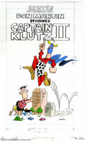 Original Comic Art:Covers, Don Martin - Original Cover Art for Captain Klutz Paperback II (EC,1981). Able to leap small buildings in a single bound, i...
