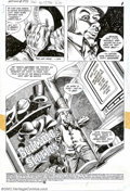 Original Comic Art:Splash Pages, Don Newton and Alfredo Alcala - Original Art for Batman #379, page1, (DC, 1984). A nicely demented Mad Hatter splash page p...