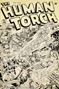 Original Comic Art:Covers, Alex Schomburg - Original Cover Art for Human Torch Comics #16(Timely, 1945). Every collectible field has its rarities, tho...
