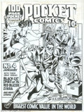 Original Comic Art:Covers, Joe Simon - Original Cover Art for Pocket Comics #1 (Harvey, 1941). Offered here is a museum-quality piece that one lucky bi...