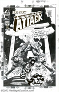 Original Comic Art:Covers, Tom Sutton - Original Cover Art for Attack #13 (Charlton, 1973).This awesome Tom Sutton piece exemplifies the horrors of th...