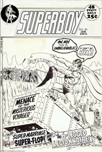 """Curt Swan and Murphy Anderson - Original Cover Art for Superboy #181 (DC, 1972). A wonderful cover image from the """"..."""
