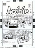 Original Comic Art:Covers, Unknown Artist - Original Cover Art for Archie's Joke Book Magazine#199 (Archie, 1960s). Archie and his friends set us up f...