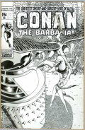 Original Comic Art:Covers, Barry Windsor-Smith - Original Unpublished Cover Art for Conan #9 (Marvel, 1971). Conan fights as he falls in this action-pa...