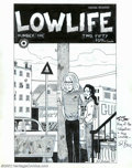 Original Comic Art:Covers, Ed Brubaker - Original Cover Art for Lowlife #1 (Caliber Press,1990). Like a lot of today's mainstream artist's and writers...