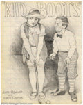 Original Comic Art:Sketches, Robert Crumb - Original Sketches (undated). The silent film era comes to life with Crumb's vision of a movie poster for Eddi...