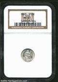 Seated Half Dimes: , 1863 H10C MS67 NGC. The 1863 is another of the low ...