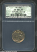 Buffalo Nickels: , 1918-S 5C AU Details, Improperly Cleaned NCS. Sharply ...