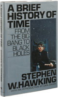 Books:First Editions, Stephen Hawking: A Brief History of Time. (New York: BantamBooks, 1988), first edition, 198 pages, black quarter-cloth ...