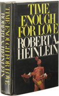 Books:First Editions, Robert Heinlein: Time Enough for Love. (New York: G.P.Putnam's Sons, 1973), first edition, 605 pages, black cloth with...