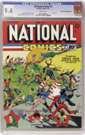 Golden Age (1938-1955):Superhero, National Comics #9 Mile High pedigree (Quality, 1941) CGC NM 9.4White pages....