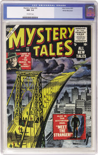 Mystery Tales #32 White Mountain pedigree (Atlas, 1955) CGC NM- 9.2 Off-white pages
