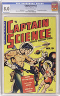 Golden Age (1938-1955):Superhero, Captain Science #1 (Youthful Magazines, 1950) CGC VF 8.0 Off-white to white pages....