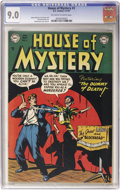 Golden Age (1938-1955):Horror, House of Mystery #3 (DC, 1952) CGC VF/NM 9.0 Off-white to whitepages....