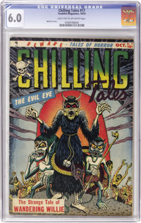 Chilling Tales #17 (Youthful Magazines, 1953) CGC FN 6.0 Light tan to off-white pages