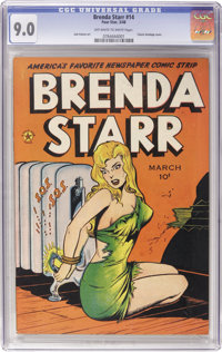 Brenda Starr #14 (#2) (Superior, 1948) CGC VF/NM 9.0 Off-white to white pages