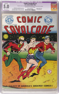Comic Cavalcade #1 (DC, 1942) CGC Apparent VG/FN 5.0 Moderate (P) Off-white to white pages