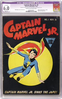 Captain Marvel Jr. #1 (Fawcett, 1942) CGC Apparent FN 6.0 Slight (P) Cream to off-white pages