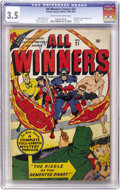 Golden Age (1938-1955):Superhero, All Winners Comics #21 (Timely, 1947) CGC VG- 3.5 Cream to off-white pages....