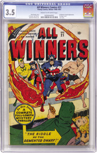 All Winners Comics #21 (Timely, 1947) CGC VG- 3.5 Cream to off-white pages