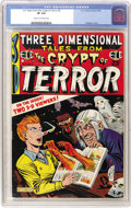 Golden Age (1938-1955):Horror, Three Dimensional Tales from the Crypt of Terror #2 (EC, 1954) CGCVF 8.0 Cream to off-white pages....