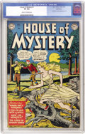 Golden Age (1938-1955):Horror, House of Mystery #1 Bethlehem pedigree (DC, 1952) CGC VF 8.0 Creamto off-white pages....