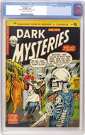 Golden Age (1938-1955):Horror, Dark Mysteries #18 (Master Publications, 1954) CGC VF/NM 9.0 Creamto off-white pages....