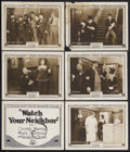 "Movie Posters:Short Subject, Watch Your Neighbor (Mack Sennett Comedies, 1918). Title Lobby Card(11"" X 14"") and Lobby Cards (5) (11"" X 14""). Comedy. Sta... (Total:6 Items)"