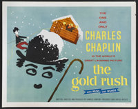 "The Gold Rush (United Artists, R-1950s). Half Sheet (22"" X 28"") Style A. Comedy. Starring Charles Chaplin, Geo..."