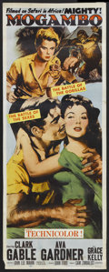 "Movie Posters:Adventure, Mogambo (MGM, 1953). Insert (14"" X 36""). Romantic Adventure.Starring Clark Gable, Ava Gardner, Grace Kelly, Donald Sinden, ..."