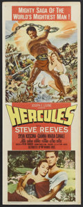 "Movie Posters:Adventure, Hercules (Warner Brothers, 1959). Insert (14"" X 36""). Adventure.Starring Steve Reeves, Sylva Koscina, Gianna Maria Canale, ..."