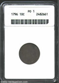 Early Dimes: , 1796 10C Poor 1 ANACS. JR-2, R.4. Light green-gray and ...