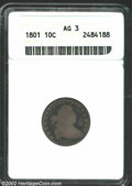 Early Dimes: , 1801 10C AG3 ANACS. JR-1, R.4. Large A in reverse legend. ...