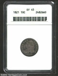 Bust Dimes: , 1821 10C Small Date XF45 ANACS. JR-8, R.2. Most easily ...
