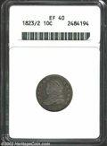 Bust Dimes: , 1823/2 10C Large Es XF40 ANACS. JR-3, R.2. Only three die ...