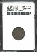 Bust Dimes: , 1824/2 10C --Damaged, Cleaned--ANACS. VF Details, Net Fine ...